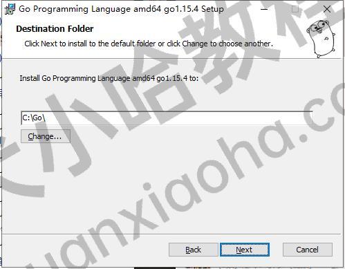 windows系统选择go语言安装路径