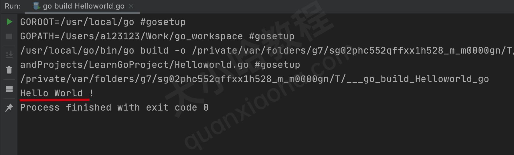 Jetbrains GoLang运行第一个Go程序